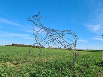 Bespoke Metal Deer Sculpture