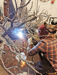 Fabricating an Olive Tree Sculpture