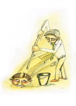 Her mit der Million, Brachial Top Down, Illustration Marie Hübner