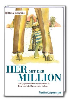 Her mit der Million, Titel, Illustration Marie Hübner
