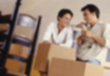 déménagement et boîtes de carton