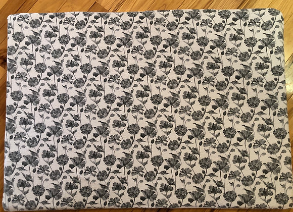 Gray Floral Pack and Play Sheet