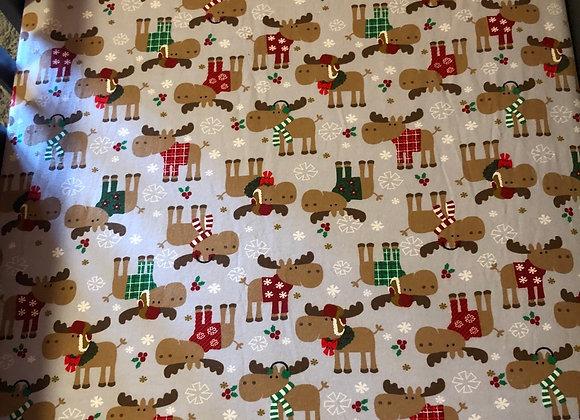 Winter Moose Crib Sheet