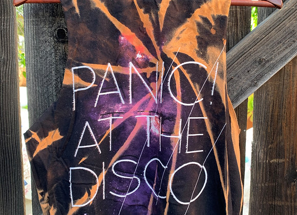 Panic! at the Disco Cropped Muscle Tee Tie Dye Shirt, Sz. M
