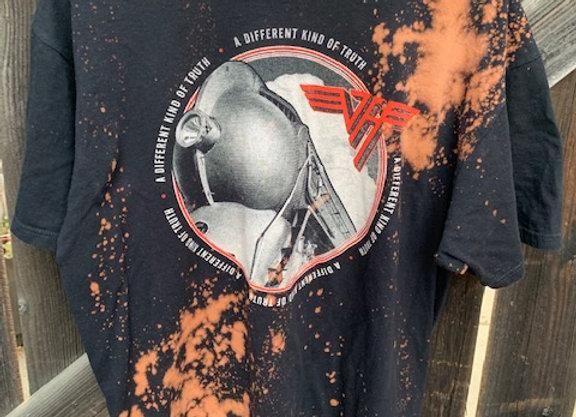 Van Halen Bleached Tie Dye Splatter Tie Dye Short Sleeve