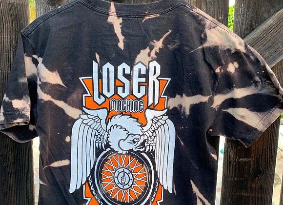 Loser Machine Co. Logo Cropped Tie Dye, Sz. M