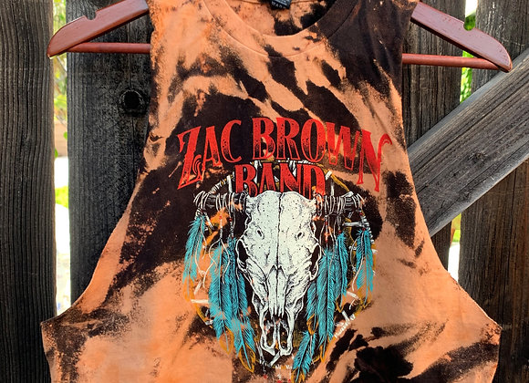 Zac Brown Band Muscle Tee Tie Dye Country Rock n' Roll Shirt, Sz. M