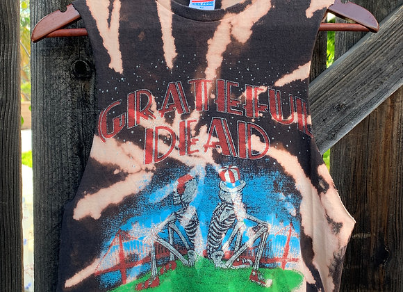 Grateful Dead Cropped Muscle Tee Tie Dye Shirt, Sz. XS