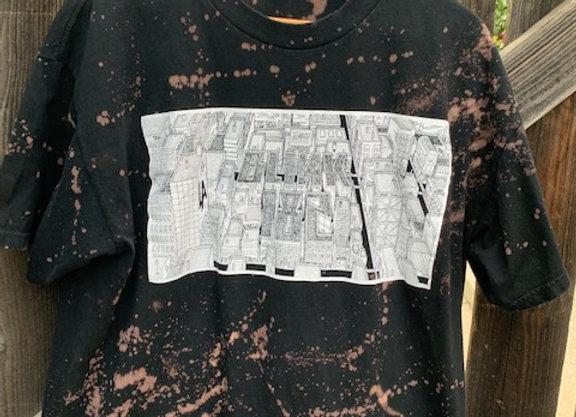 Blink-182 Neighborhoods Tour Distressed Bleached Splatter Tie Dye Short Sleeve