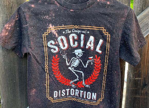 Social Distortion Shirt, Bleach Splatter Sz. S