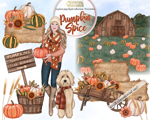 Pumpkin Spice clipart collection