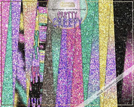 Pretty Creepy Glitter Backgrounds