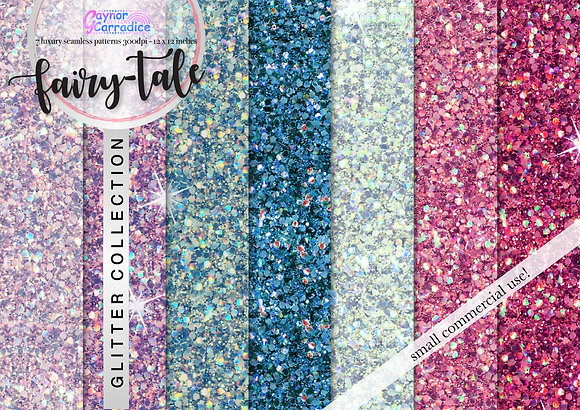 Fairy-Tale glitter digital paper collection