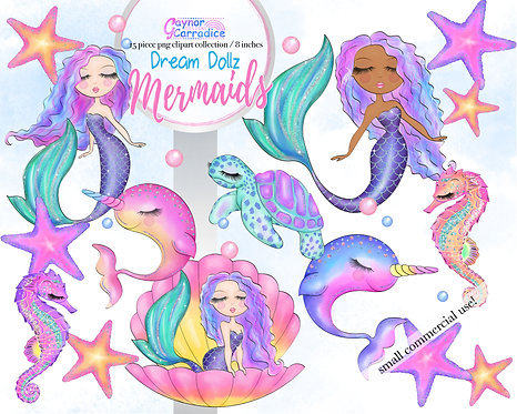 Dream Dollz Mermaids clipart collection