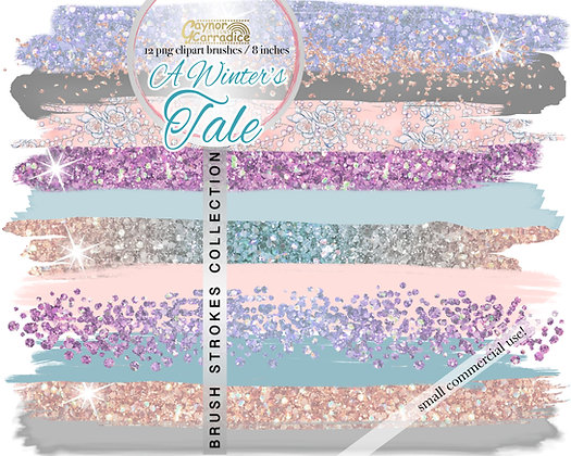 A Winters Tale -  Brush Strokes clipart collection