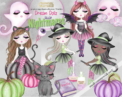 Dream Dollz Halloween nightmares clipart collection