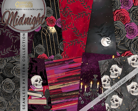 Halloween Fashion Digital Paper Collection