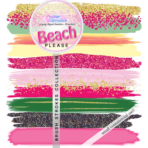 Beach Please Brush Strokes clipart collection