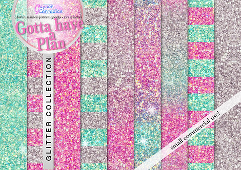 Gotta Have a Plan glitter digital paper collection