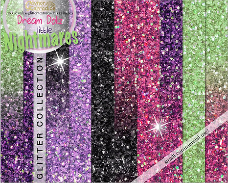 Halloween glitter digital paper collection