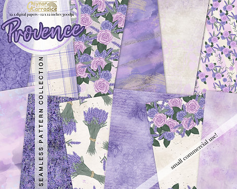 Spring Provence - seamless pattern collection