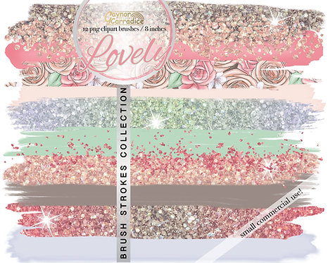 Lovely -  Brush Strokes clipart collection