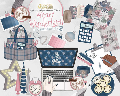 Winter Planner Clipart Collection 2