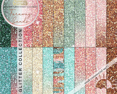 Faraway Sands Glitter Backgrounds