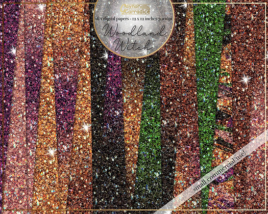 Woodland Witch Glitter Backgrounds