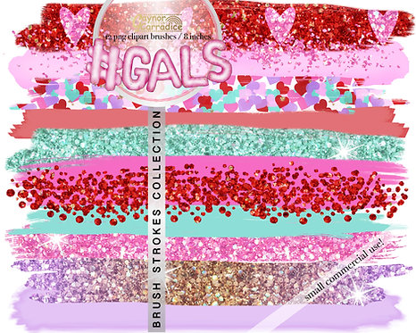 Gals -  Brush Strokes clipart collection