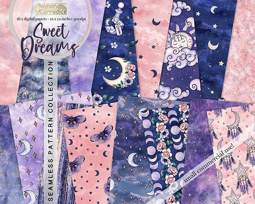 Sweet Dreams Digital Papers