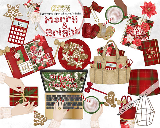Christmas Planner Clipart Collection