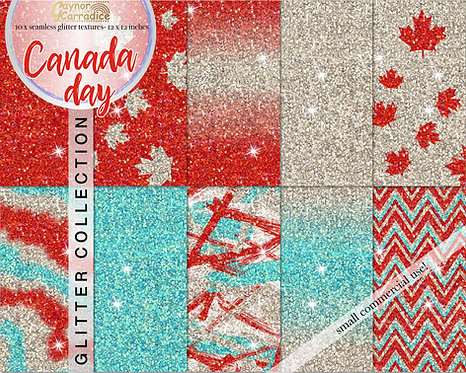 Canada Day Glitter Backgrounds