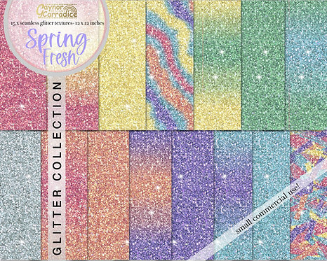 Spring Fresh Glitter Backgrounds