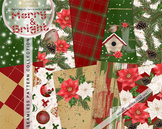 Christmas Digital Paper Collection