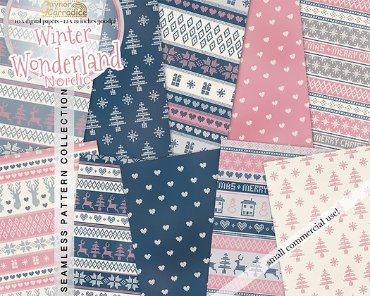 Nordic Winter Digital Paper Collection