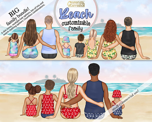 Beach Family Cutomizable Bundle
