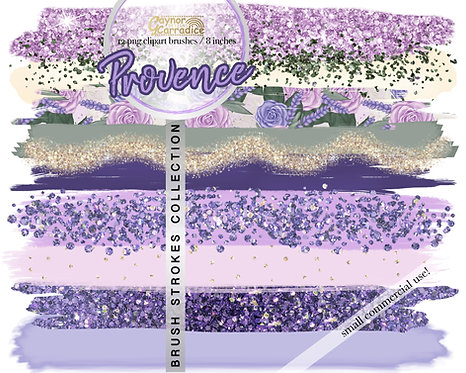 Spring Provence -  Brush Strokes clipart collection