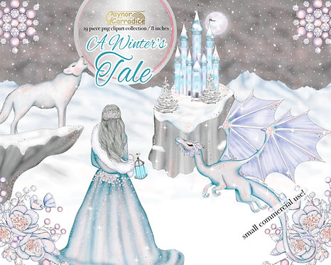 A Winter's Tale - Winter fairy tale clipart collection