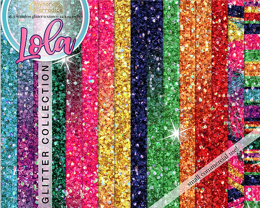 Lola - Mexican glitter backgrounds collection