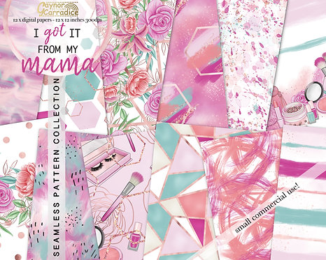I got it from my mama - abstract and floral seamless pattern collection