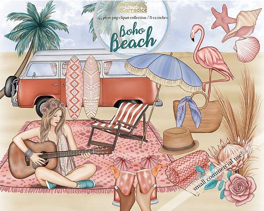 Boho beach clipart
