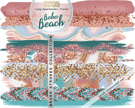 Boho beach brush strokes