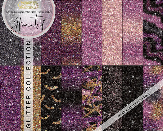 Haunted glitter backgrounds