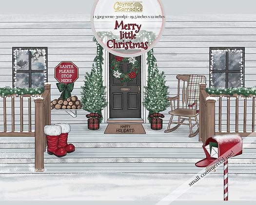 Merry little Christmas scene