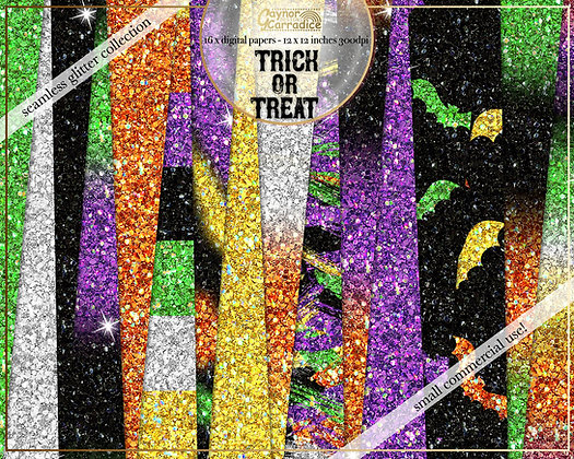 Trick Or Treat Glitter Backgrounds