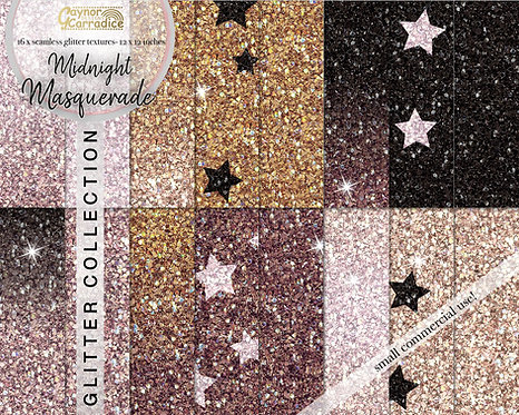 Midnight masquerade glitter backgrounds