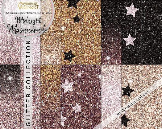 Midnight masquerade glitter backgrounds