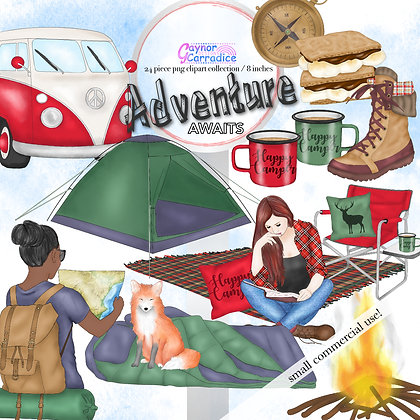 Camping Fashion Clipart Collection