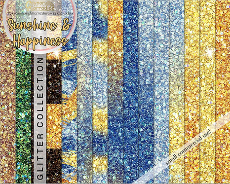 Sunshine and Happiness Glitter Backgrounds